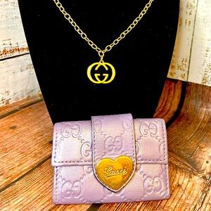 Gucci key holder wallet guccissima leather